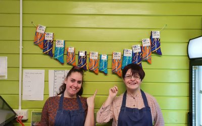 STUDENTS HAVING 'SERIOUS FUN' SELLING ODD SOCKS FOR DOWN SYNDROME AWARENESS DAY 2020